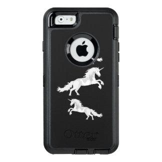 Illustration White Unicorn OtterBox Defender iPhone Case