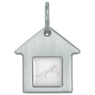 Illustration White Unicorn Pet Tag