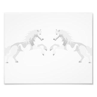 Illustration White Unicorn Photo Print
