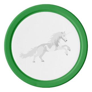 Illustration White Unicorn Poker Chips
