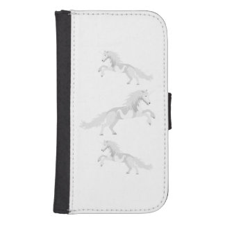 Illustration White Unicorn Samsung S4 Wallet Case