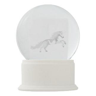 Illustration White Unicorn Snow Globe