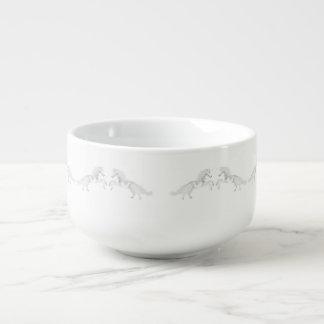 Illustration White Unicorn Soup Mug