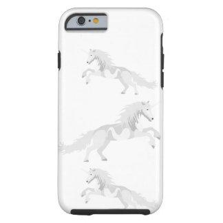 Illustration White Unicorn Tough iPhone 6 Case