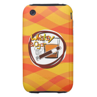 Illustration Wiskey and Cigar Tough iPhone 3 Cover
