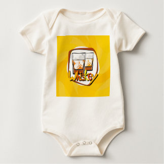 Illustration Wiskey on Ice Baby Bodysuit