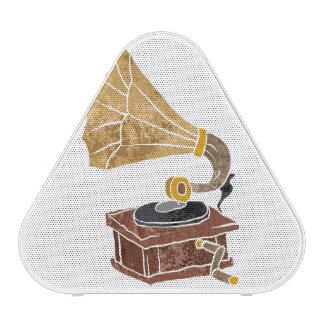 illustration with gramophone