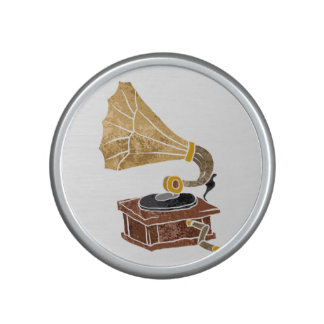 illustration with gramophone bluetooth speaker