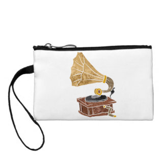 illustration with gramophone change purse