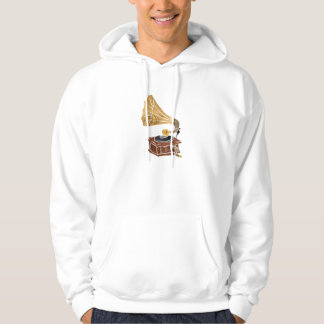 illustration with gramophone hoodie