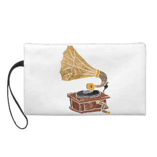 illustration with gramophone wristlet