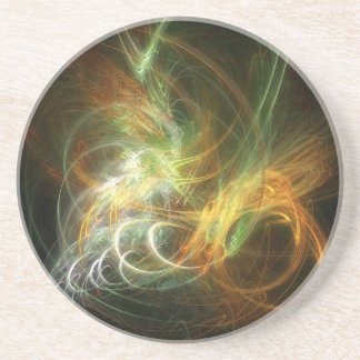 illustration with high detail and vibrant colors beverage coaster