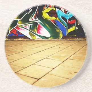illustration with high detail and vibrant colors sandstone coaster