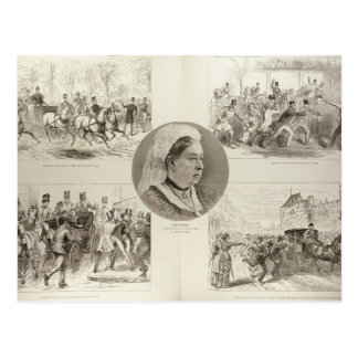 Illustrations of Attacks on Queen Victoria Postcard