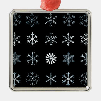 Illustrations of Snowflakes Ornaments