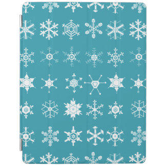 Illustrations of Snowflakes (teal) iPad Cover