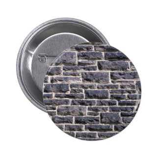 Illustrative Brick church wall 6 Cm Round Badge