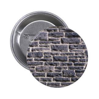 Illustrative Brick church wall 6 Cm Round Badge