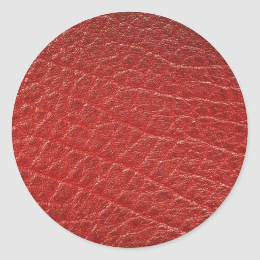Illustrative Red leather texture Sticker
