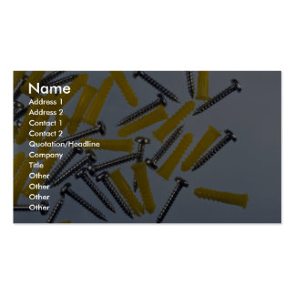Illustrative Screws and yellow plugs Business Card Templates
