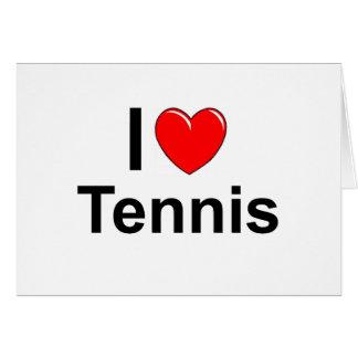 ILove Heart Tennis Card