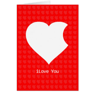 iLove You Card (red)