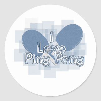 ILovePingPong Faded Blue Paddles Stickers