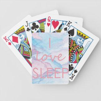 Ilovesleep Bicycle Playing Cards