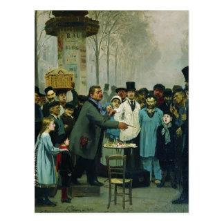 Ilya Repin- A Newspaper Seller in Paris Postcard