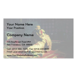 Ilya Repin- Ivan the Terrible and His Son Ivan Business Cards