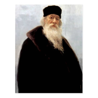 Ilya Repin- Portrait of Art Critic Vladimir Stasov Postcard