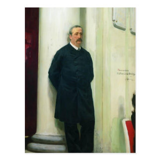 Ilya Repin- Portrait of composer and chemist Postcard