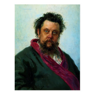 Ilya Repin- Portrait of Composer Modest Musorgsky Postcard