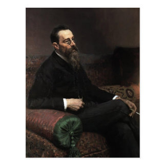 Ilya Repin- Portrait of Composer Nikolay -Korsakov Postcard
