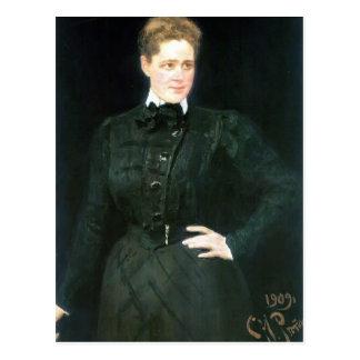 Ilya Repin- Portrait of countess Sophia Panina Postcard