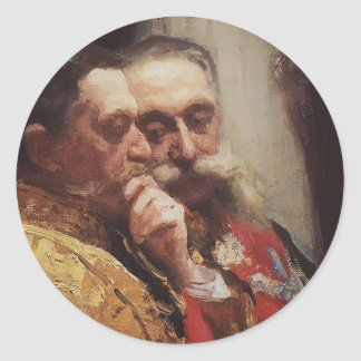 Ilya Repin- Portrait of members of State Council Classic Round Sticker