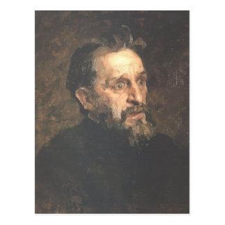 Ilya Repin- Portrait of painter Grigory Myasoyedov Postcard