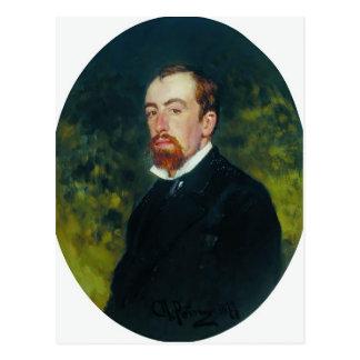 Ilya Repin- Portrait of the Artist Vasily Polenov Postcard