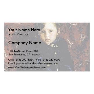 Ilya Repin- Portrait of Yuriy Repin, Artist's son Business Card