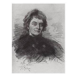 Ilya Repin:Portrait of Zinaida Nikolayevna Gippius Postcard