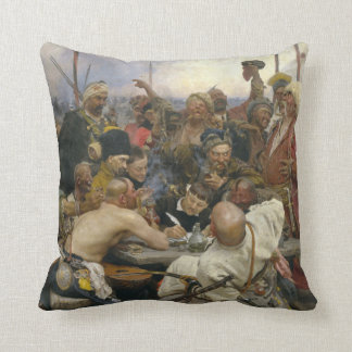 Ilya Repin Reply of the Zaporozhian Cossacks Cushion