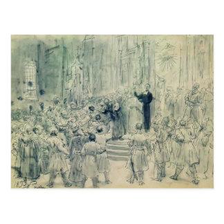 Ilya Repin: Sermon of Josaphat Kuntsevich,Belarus Postcard