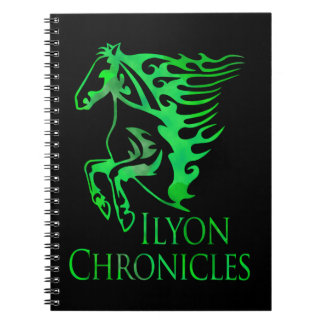 Ilyon Chronicles Green Horse Notebook (80 Pages)