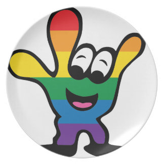 ILYrainbowFinal Party Plate