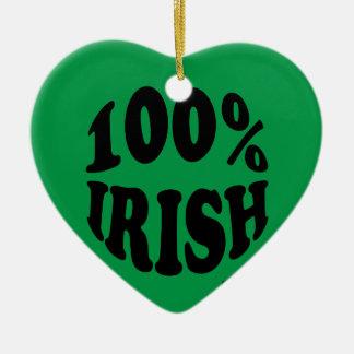 I'm 100% Irish Christmas Ornaments