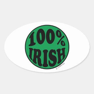 I'm 100 Irish Stickers
