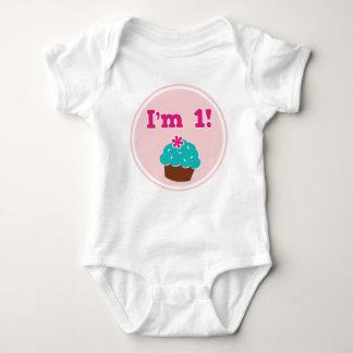 I'm 1 Cupcake Birthday Tshirt