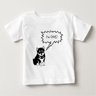 I'm 1 Dog Speech Bubble Toddler Baby Shirt