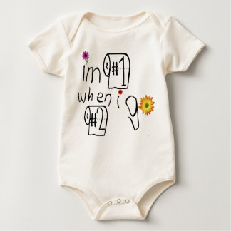 I'm #1 When I Go #2! Baby Bodysuit