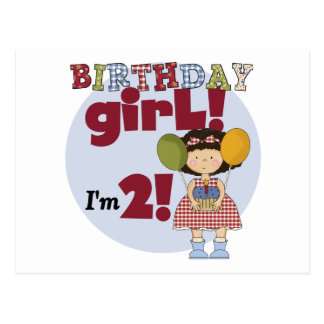 I'm 2  Birthday Girl T-shirts and Gifts Postcard